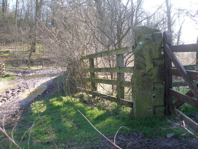 Benchmark beside Ingthorpe Lane at Brows Plantation