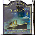 ST7593 : Titanic (Star Inn Sign) by David Dixon