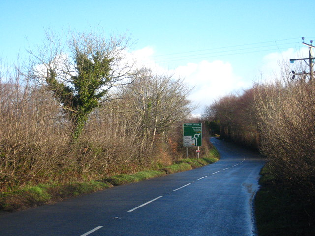 The A386 Bowerland Road