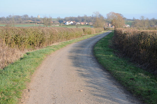 Road near Severn Stoke