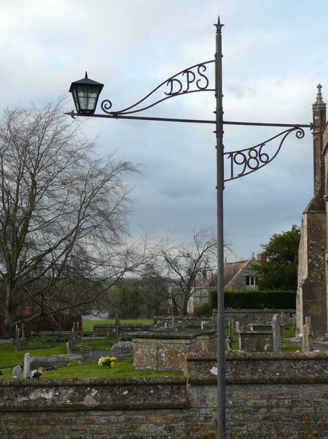 Lamp post, Edington Priory Church