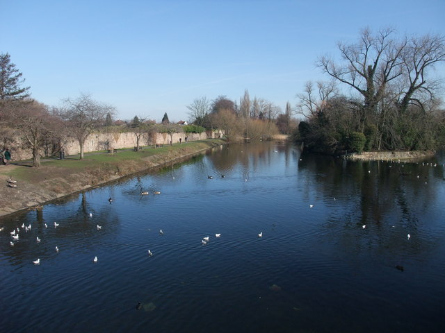 The River Soar through Abbey Park, Leicester