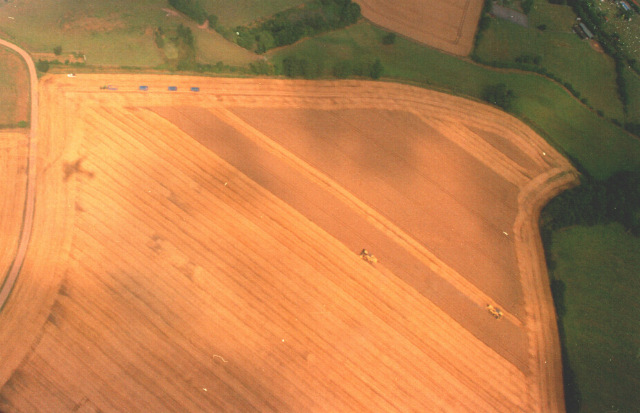Harvesting near Weston under Wetherley