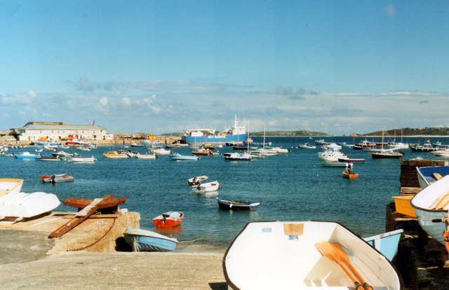 Hugh Town, The Harbour 1990