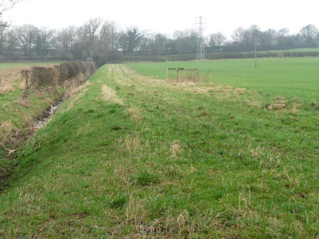 Drain along a field boundary