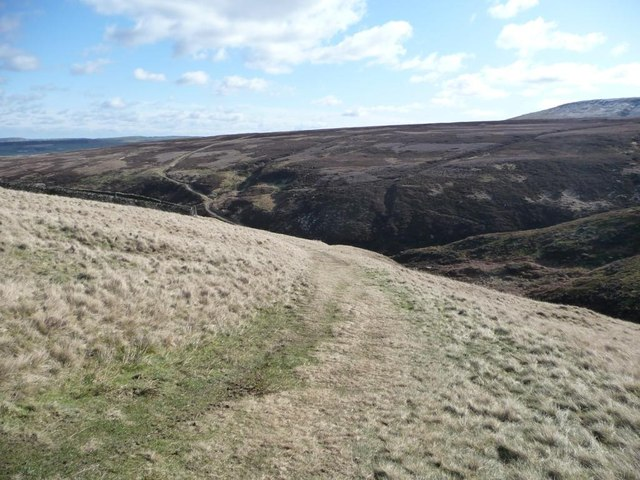 Descending to Blackpool Bridge, Marsden Clough