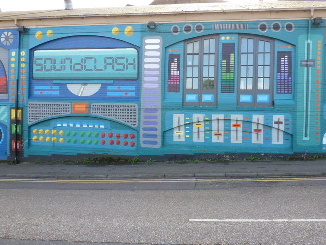 Bournemouth: detail of the Soundclash wall