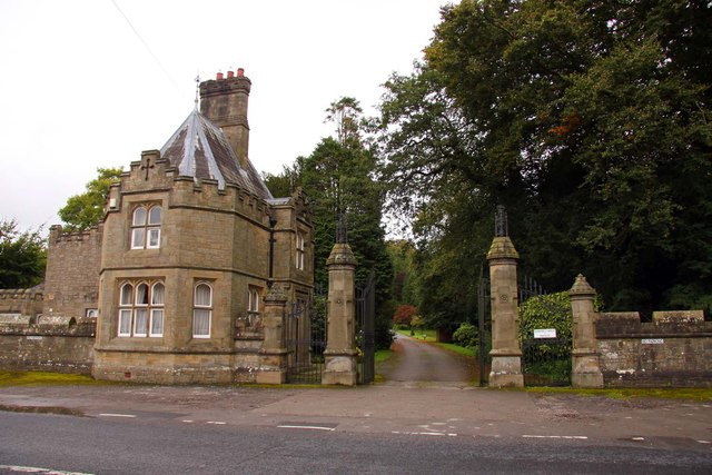 The gatehouse and entrance to Hornby Castle