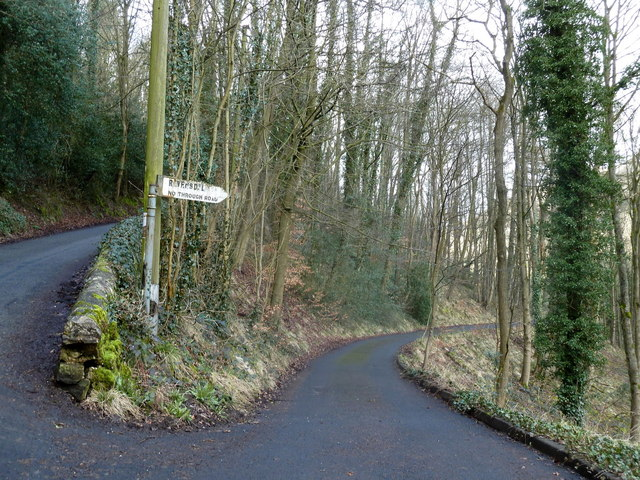 Start of lane for Ravensdale Cottages