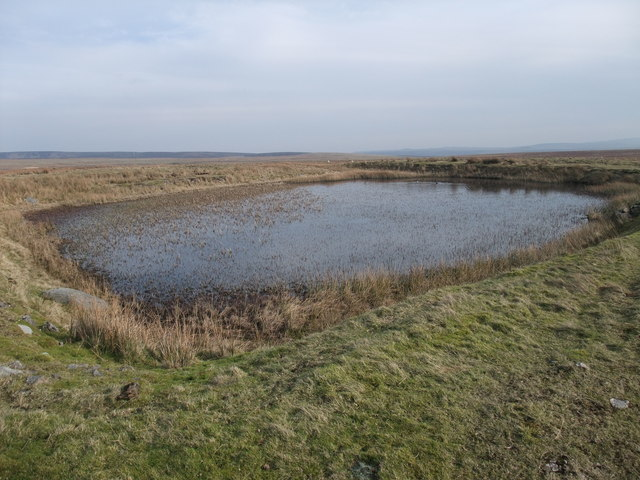 Small reservoir on Grassington Moor