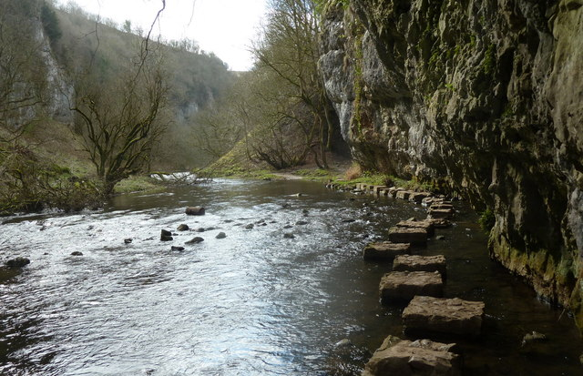 Chee Dale stepping stones, looking upstream