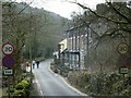 SK1473 : Lane into Miller's Dale village from Litton Mill by Andrew Hill