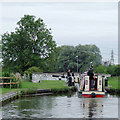 SJ7362 : Narrowboat entering Lock No 68 near Middlewich, Cheshire by Roger  Kidd