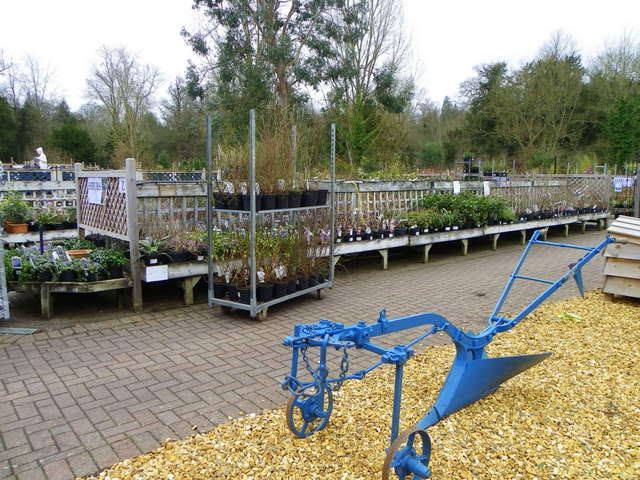 Horse drawn plough, Wilton Garden Centre