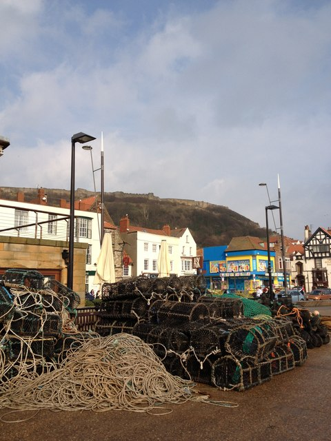 Lobster pots, Scarborough harbour