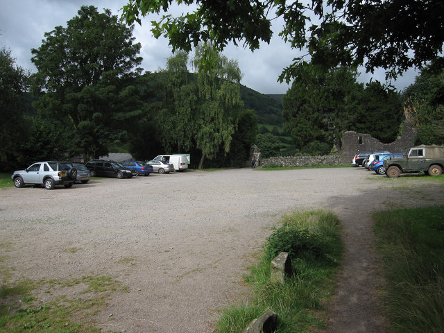 Llanthony Priory car park