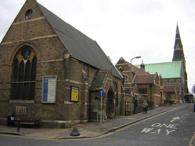 Fairfield Road, Beckenham: Christchurch and associated buildings