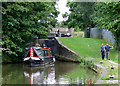 SJ7362 : Crows Nest Lock and narrowboat  near Sandbach, Cheshire by Roger  Kidd