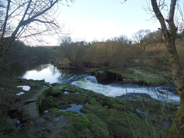 River Carron, Larbert Weir (Ruin)