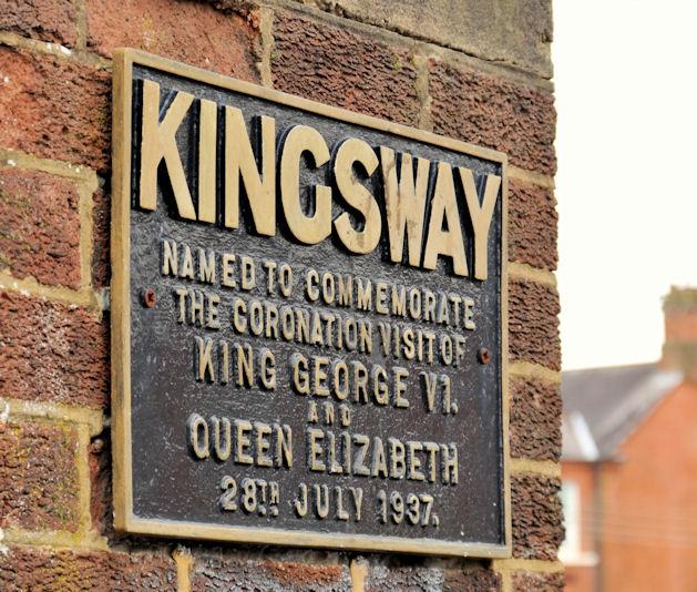 """""""Kingsway"""" plaque, Dunmurry"""