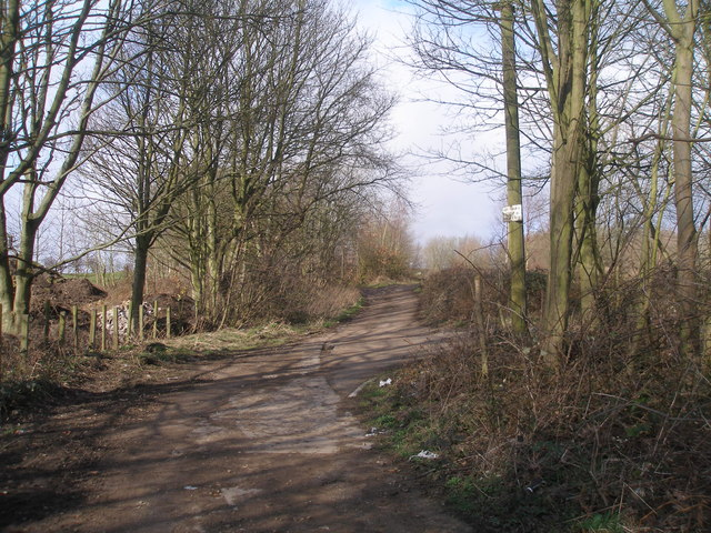 Wood Lane, west of the railway