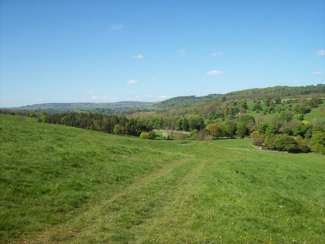 View up the Wye valley at Haddon Hall
