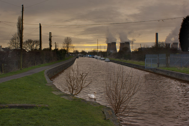 The Sankey Valley Canal and Fiddler's Ferry Power Station
