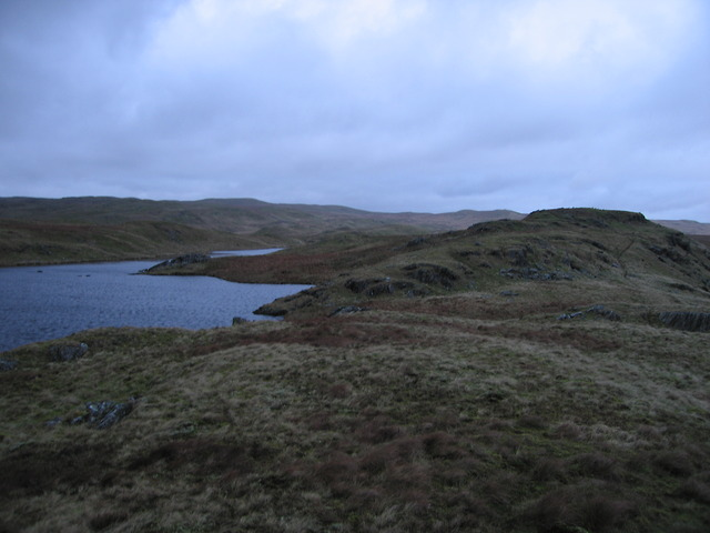 Eastern peninsula in Llyn Hir