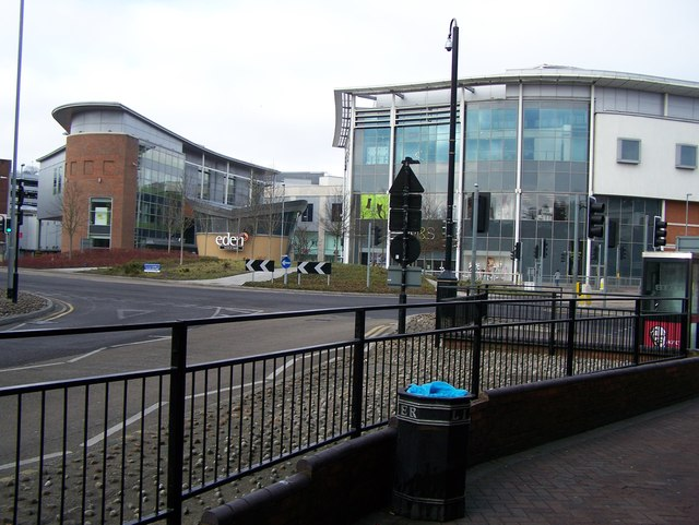 eden shopping centre main entrance rob emms geograph. Black Bedroom Furniture Sets. Home Design Ideas