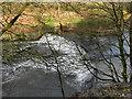 SD7706 : River Irwell, Radcliffe Weir by David Dixon