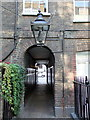 TQ2980 : Gas lamp in Pickering Place, London by PAUL FARMER