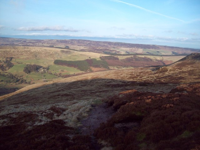 Overlooking Woodlands Valley from Ashop Moor