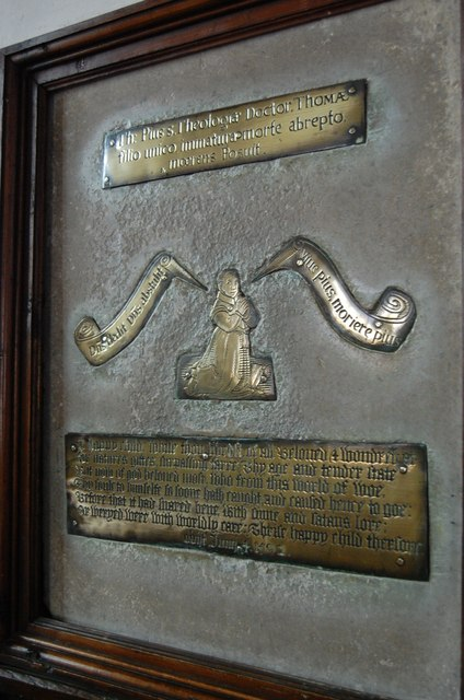 Brass to son of Thomas Pye, Brightling church
