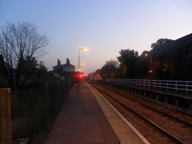 Saxmundham Railway Station in Autumnal Gloom
