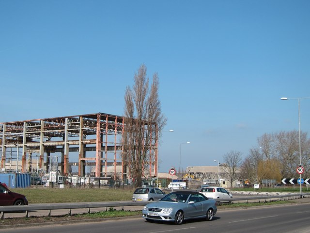 Richborough Power Station after demolition