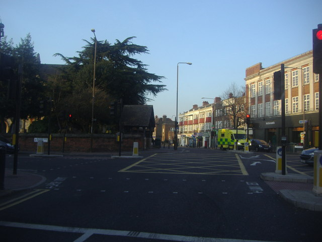 Junction of Court Road and Eltham High Street