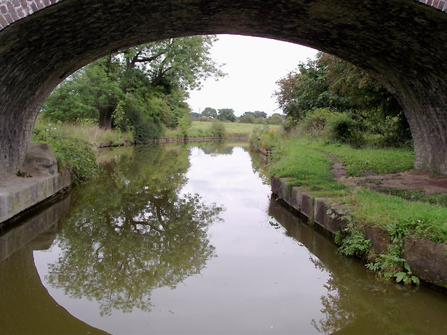 Trent and Mersey Canal west of Wheelock, Cheshire