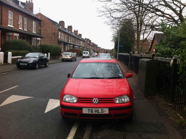 Parked on the pavement - Sandy Lane Chorlton