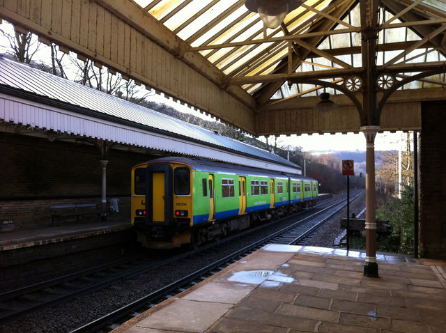 Ex London Midland Sprinter at Hebden Bridge station