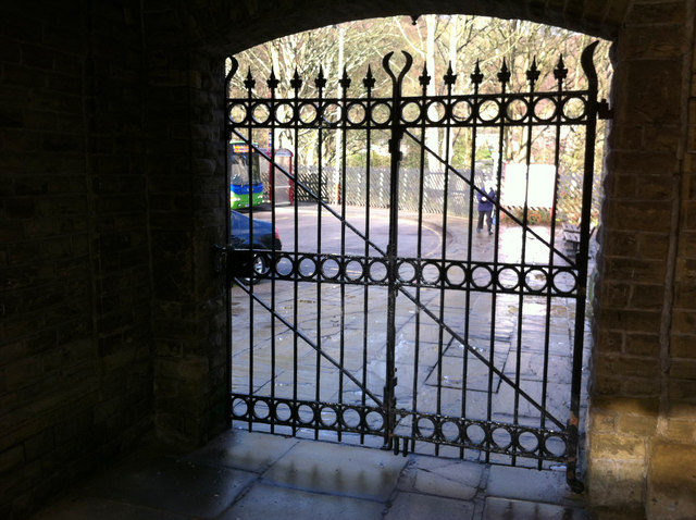 Gates at Hebden Bridge railway station