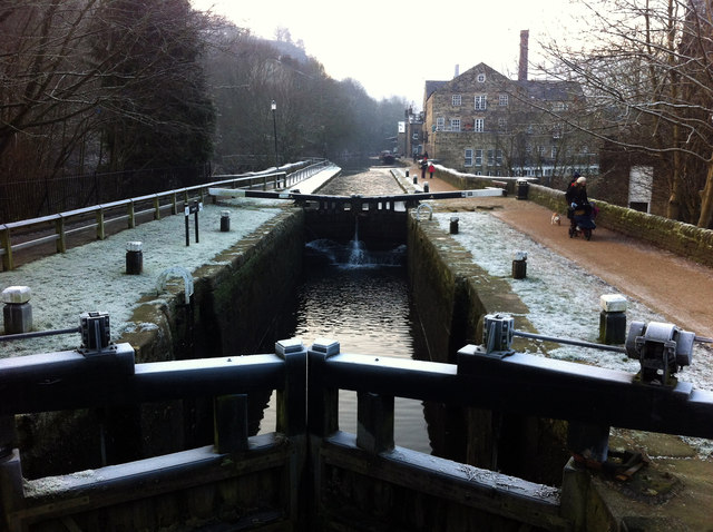 Black Pit Lock, Rochdale Canal at Hebden Bridge