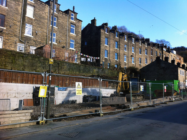 Building site on Foster Lane, Hebden Bridge