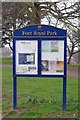 SO8554 : Park sign in Fort Royal Park, Worcester by P L Chadwick