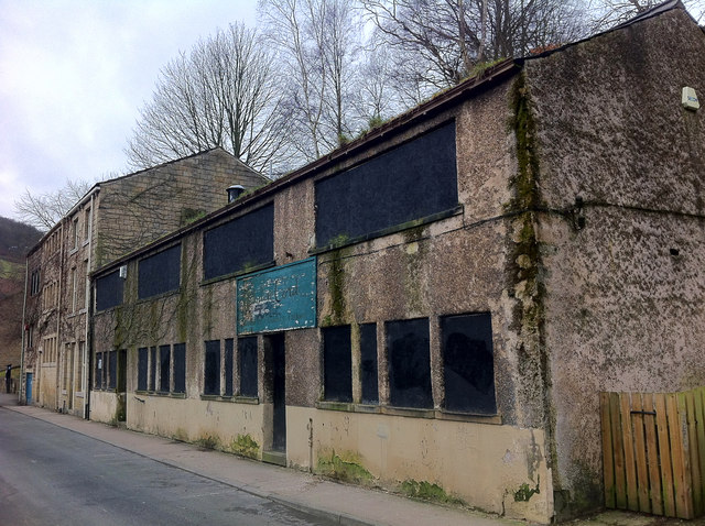 Disused factory on Old Gate, Hebden Bridge