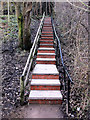SD9927 : Rebuilt steps on footpath between Holme Street and Shelf Road, Hebden Bridge by Phil Champion