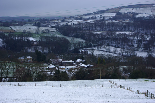 View towards Carr House Farm from Park Lane