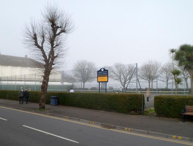 Tennis courts, Mumbles Gardens, Swansea