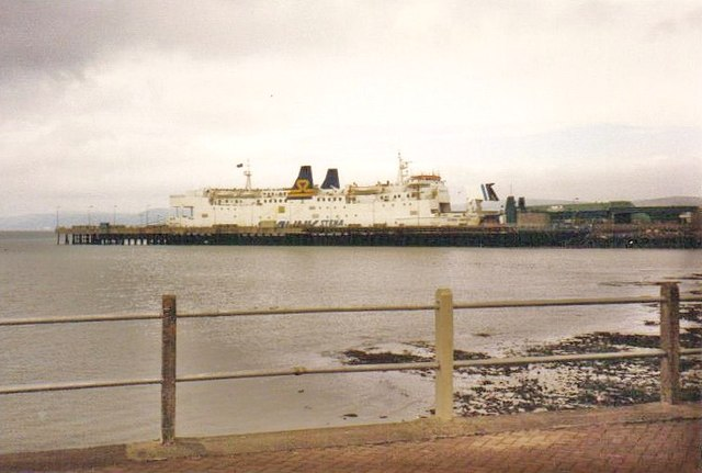 Sealink Stena Line  ferry in Stranraer harbour, May 1992