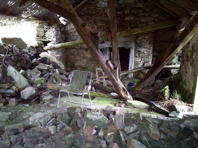 Interior of ruin at Dunmore