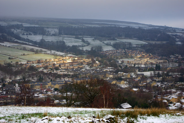 A view over Mytholmroyd from above Martin Wood